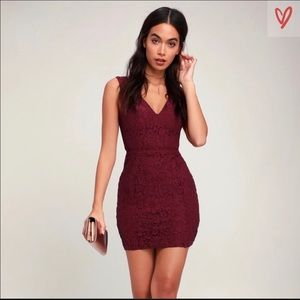 Burgundy dress from Lulus size large!